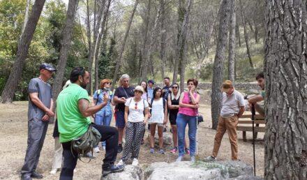 I partecipanti all'escursione con la guida
