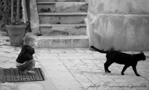 Il bimbo e il gatto